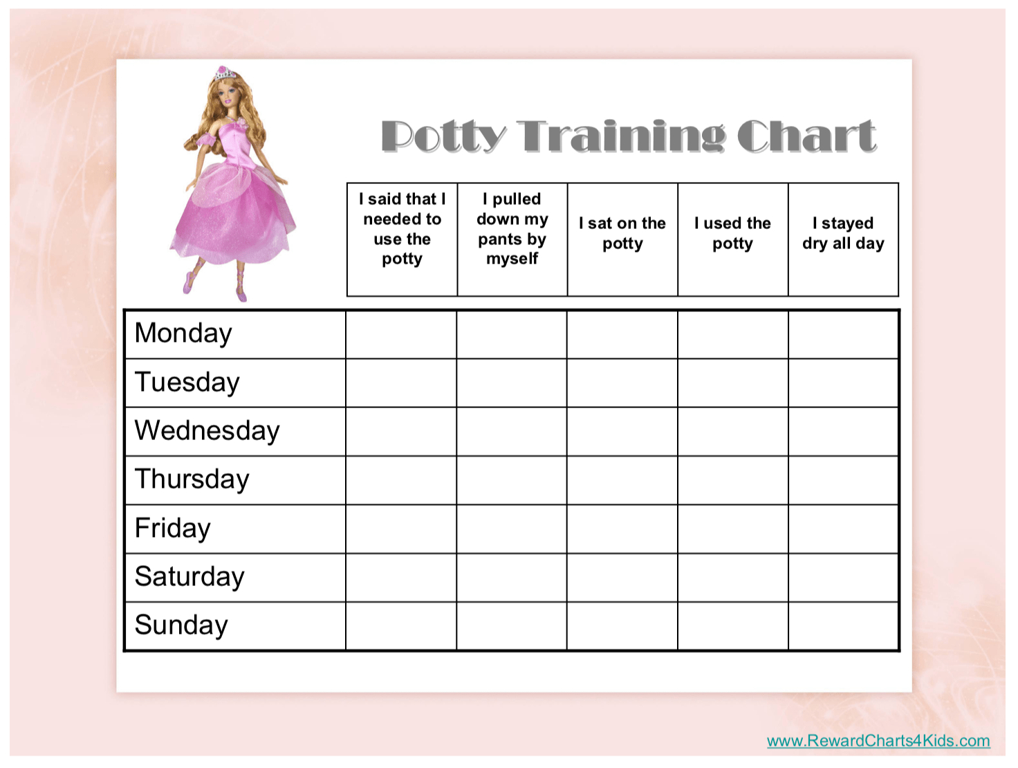 Free Printable Potty Training Charts - Potty Training - Free Printable Potty Charts