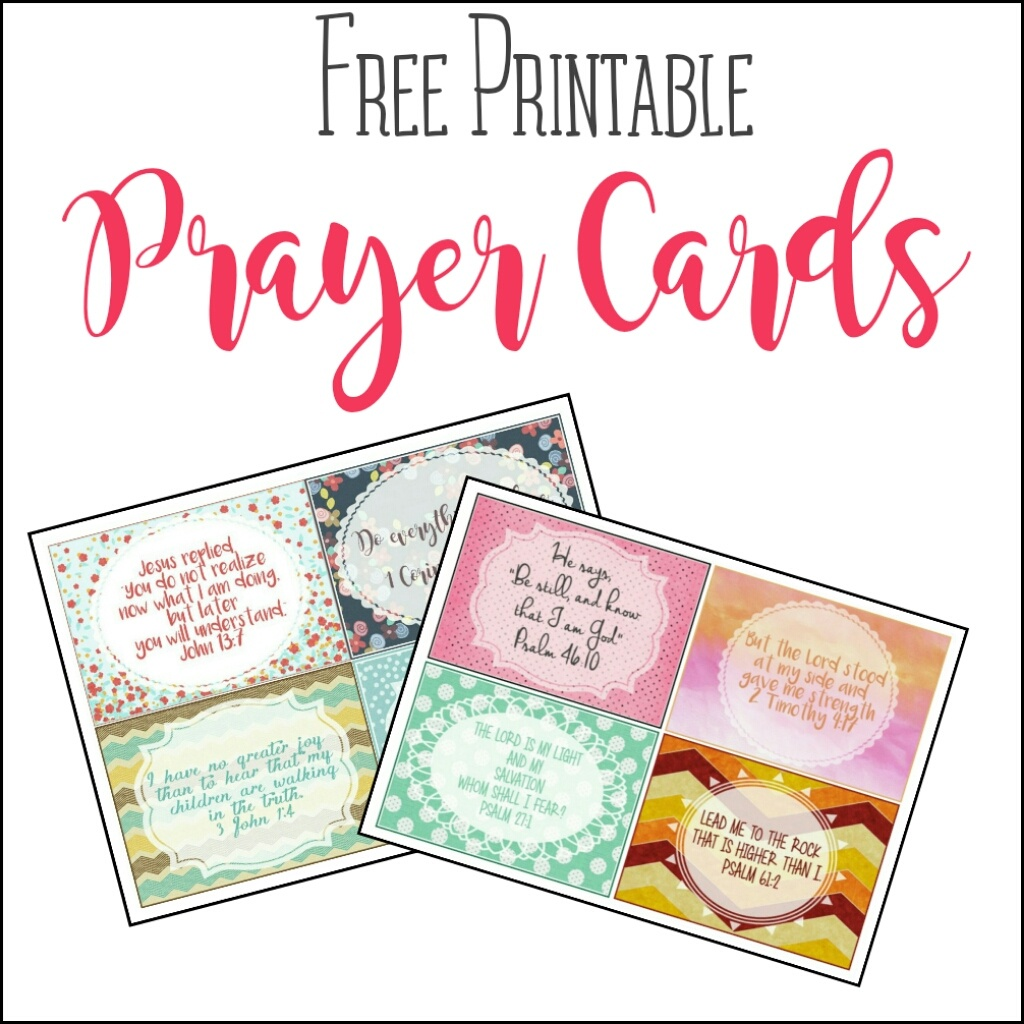 Free Printable Prayer Cards – Angela Tyler - Free Printable Prayer Cards