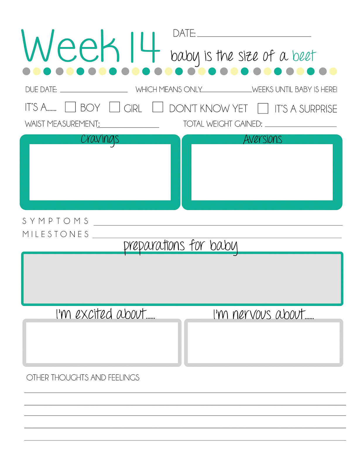 Free Printable Pregnancy Journal. | Brenda Breland Blog | Pregnancy - Free Printable Baby Journal Pages