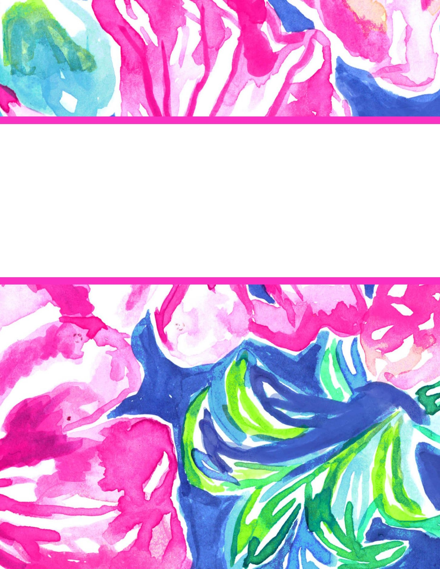 Free Printable Preppy Lilly Pulitzer Binder Covers | College Student - Free Printable School Binder Covers