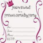 Free Printable Princess Birthday Party Invitations #freeprintables   Free Printable Princess Invitations