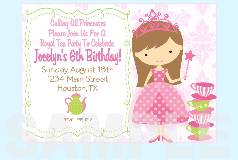 Free Printable Princess Tea Party Invitations Templates | Fun Stuff - Free Printable Princess Invitations