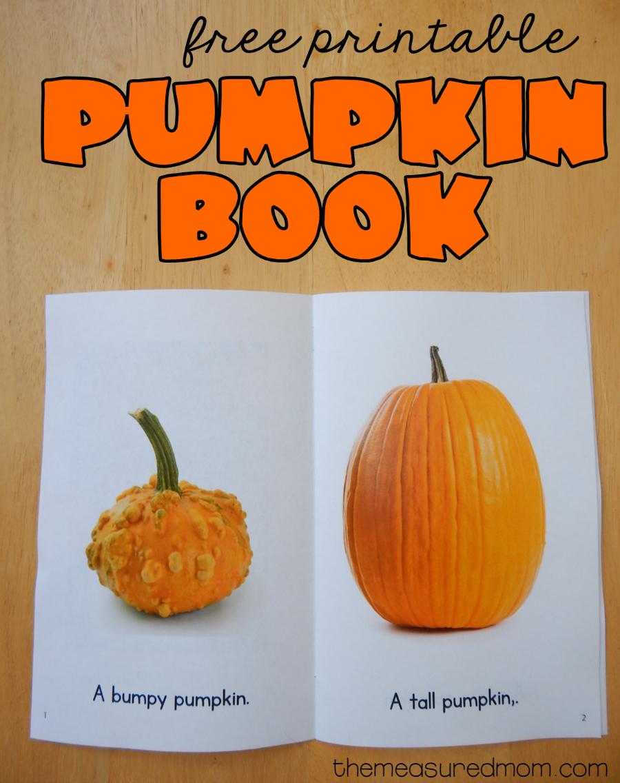 Free Printable Pumpkin Book - The Measured Mom - Free Printable Pumpkin Books