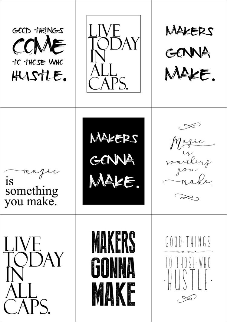 Free Printable Quotes // Delia Creates … | Gifts Made With Love | Free … - Free Printable Quotes