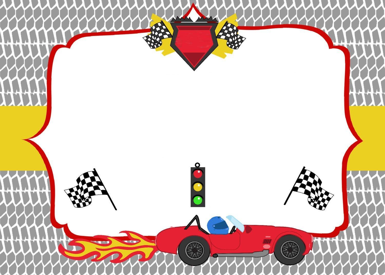 Free Printable Race Car Birthday Party Invitations - Updated! | Free - Free Printable Birthday Invitations Cars Theme