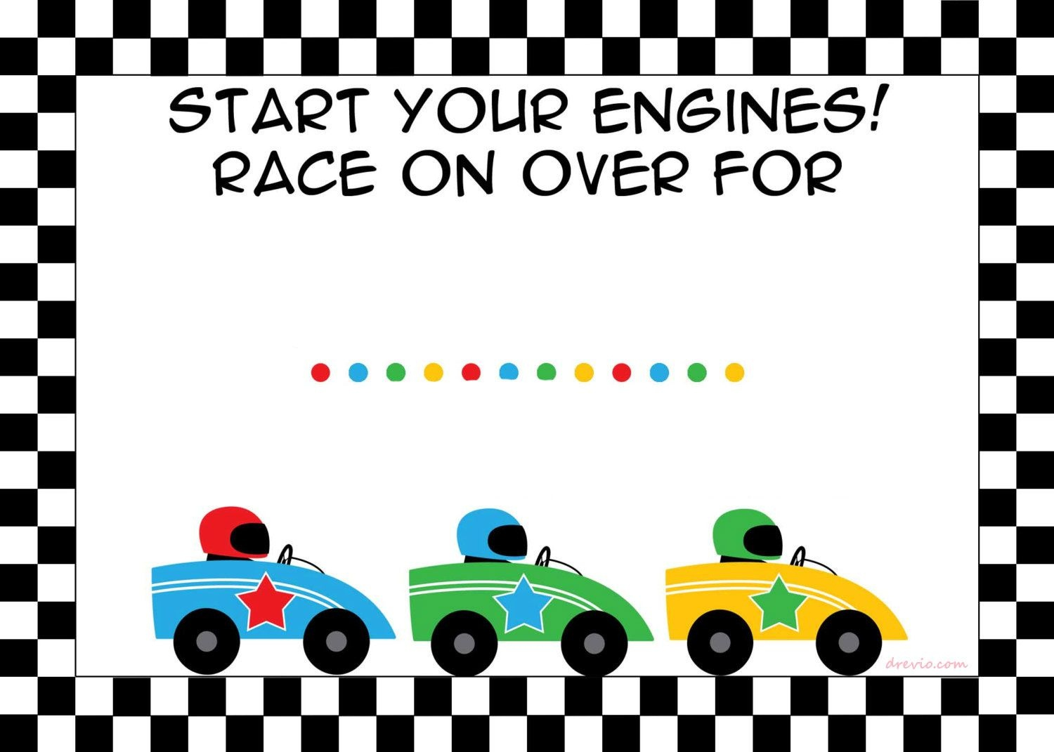 Free Printable Race Car Birthday Party Invitations - Updated - Free Printable Car Template
