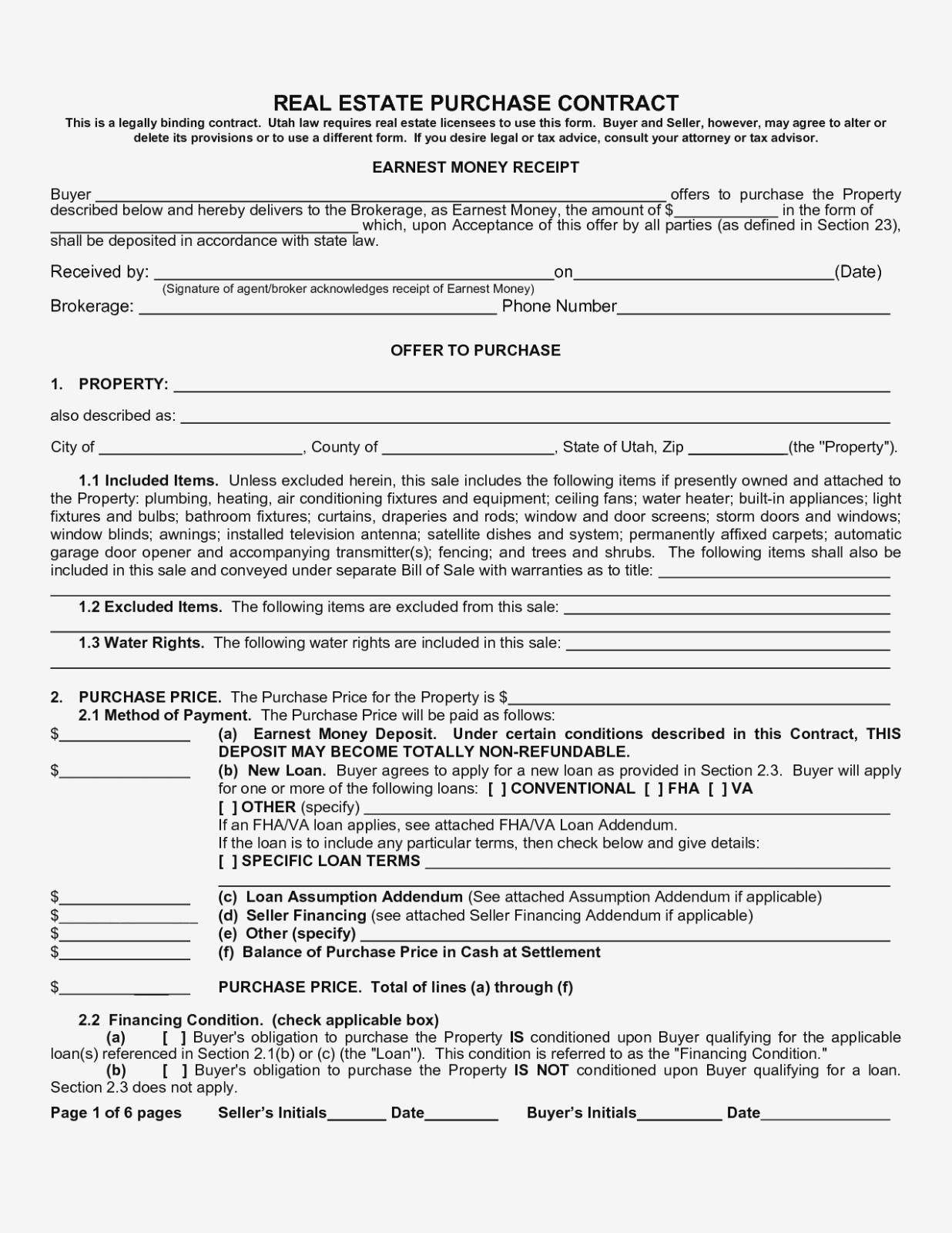 Free Printable Real Estate Contracts – Kairo.11Terrains – Form - Free Printable Real Estate Forms