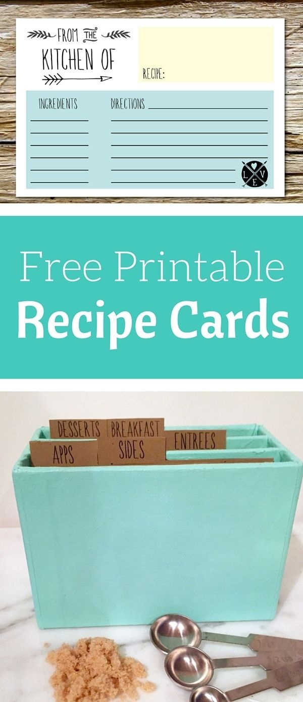 Free Printable Recipe Cards | Share Your Craft | Printable Recipe - Free Printable Recipe Dividers
