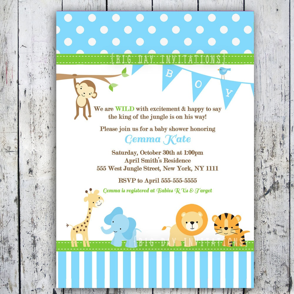 Free Printable Safari Baby Shower Invitations Best Baby Shower - Free Printable Jungle Safari Baby Shower Invitations