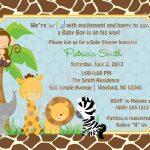 Free Printable Safari Baby Shower Invitations Safari Ba Shower   Free Printable Jungle Safari Baby Shower Invitations