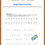 Free Printable Secret Code Word Puzzle For Kids. This Puzzle Has A - Crack The Code Worksheets Printable Free