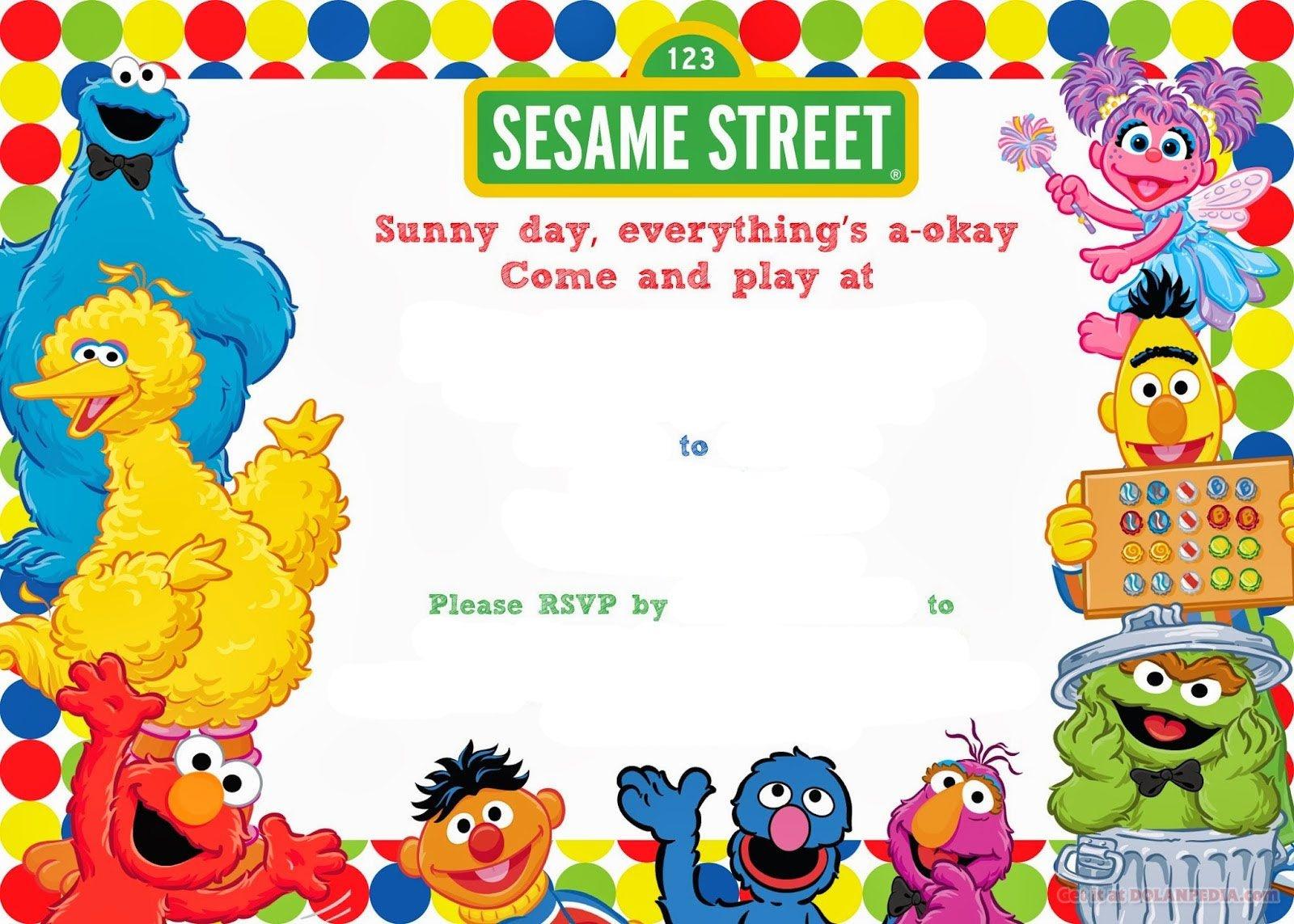 Free Printable Sesame Street Birthday   Free Printable Birthday - Free Printable Sesame Street Cupcake Toppers