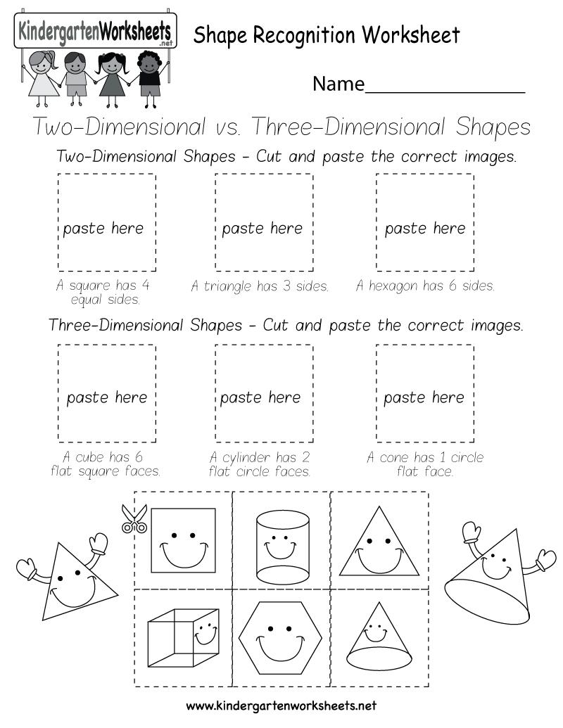 Free Printable Shape Recognition Worksheet For Kindergarten - Free Printable Shapes Worksheets
