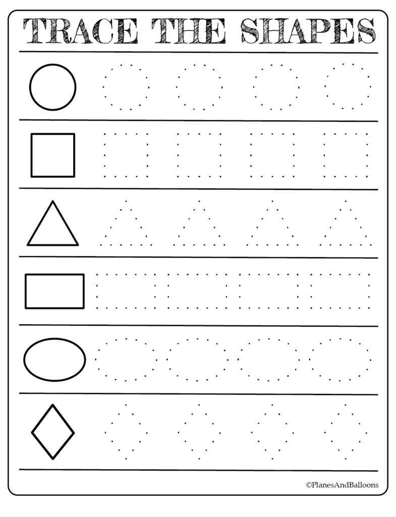 Free Printable Shapes Worksheets For Toddlers And Preschoolers - Free Printable Name Tracing Worksheets For Preschoolers