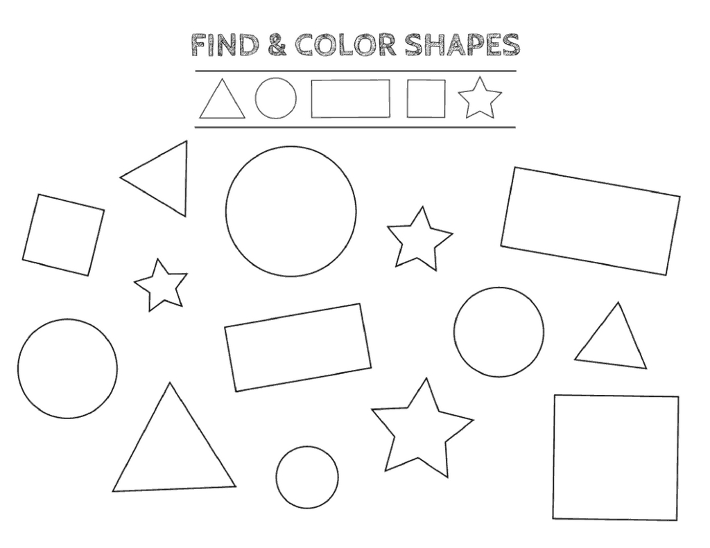 Free Printable Shapes Worksheets For Toddlers And Preschoolers - Free Printable Shapes