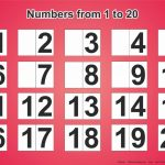 Free Printable Sheet For Learning Numbers From 1 To 20   Free Printables   Free Printable Numbers 1 20