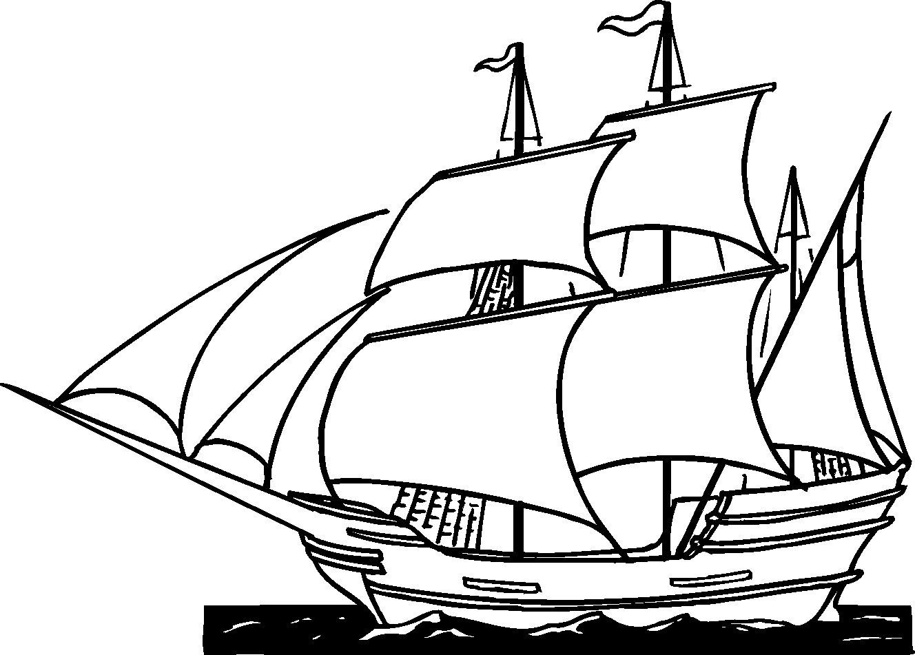 Free Printable Ships Coloring Pages For Boys   Ap Us History   Free - Free Printable Boat Pictures