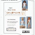 Free Printable Shorts #patterns For #americangirl And Other 18 Inch   American Girl Clothes Patterns Free Printable