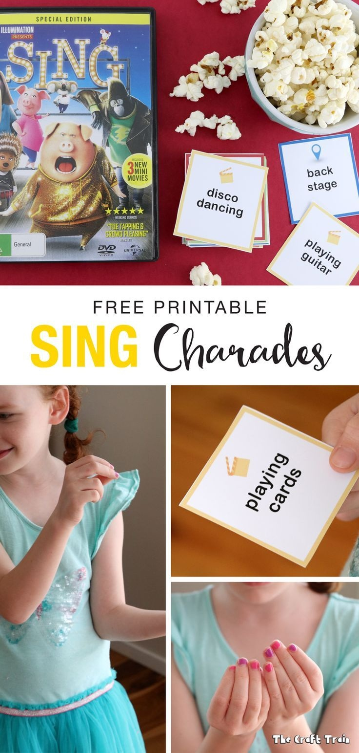 Free Printable Sing-Inspired Charades Cards   Music And Movement - Free Printable Charades Cards