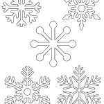 "Free Printable Snowflake Templates €"" Large & Small Stencil   Free Printable Stencil Patterns"