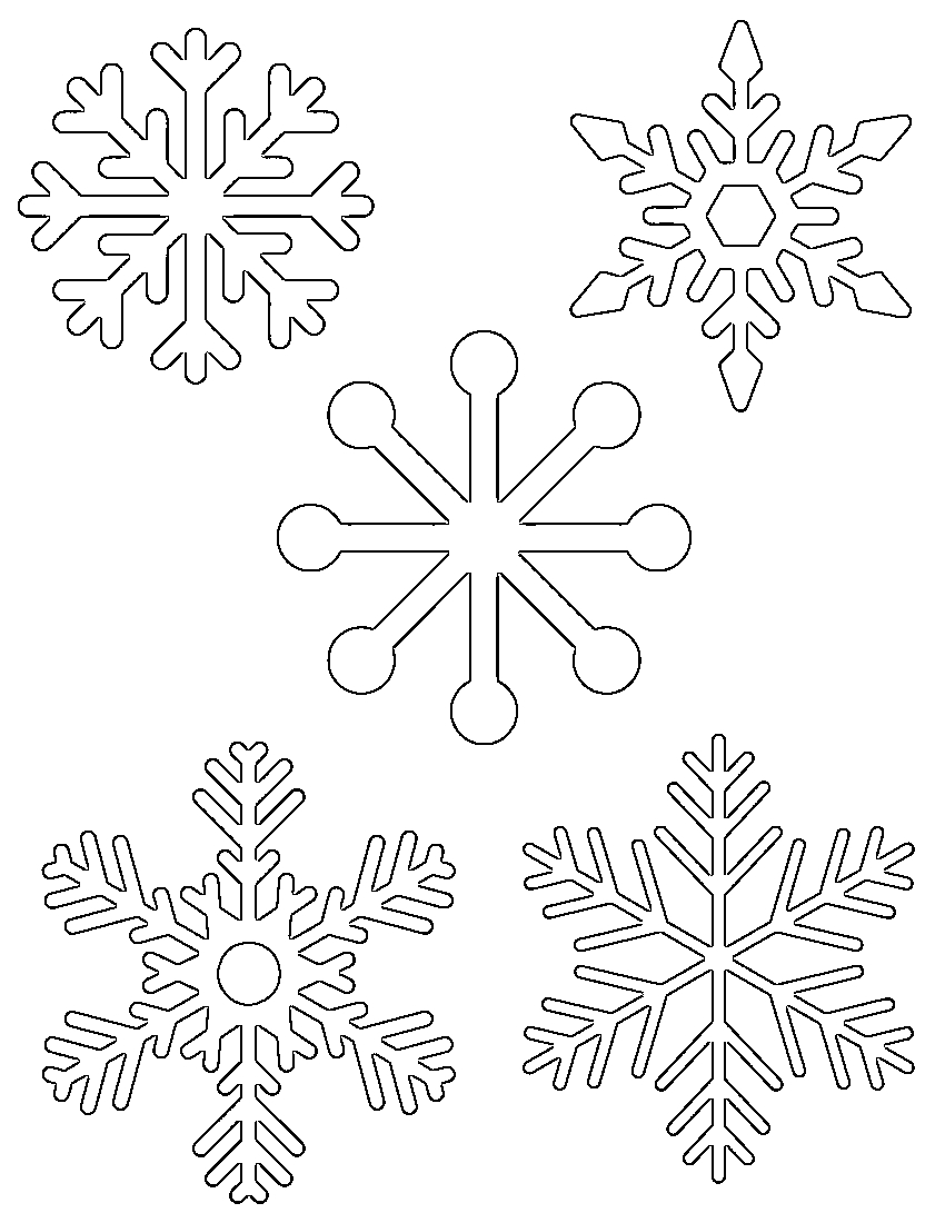 "Free Printable Snowflake Templates €"" Large & Small Stencil - Free Printable Stencil Patterns"