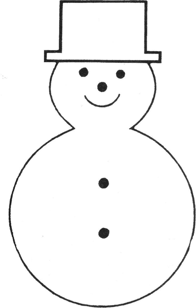 Free Printable Snowman Template   Teaching Ideas   Felt Christmas - Free Printable Snowman Patterns