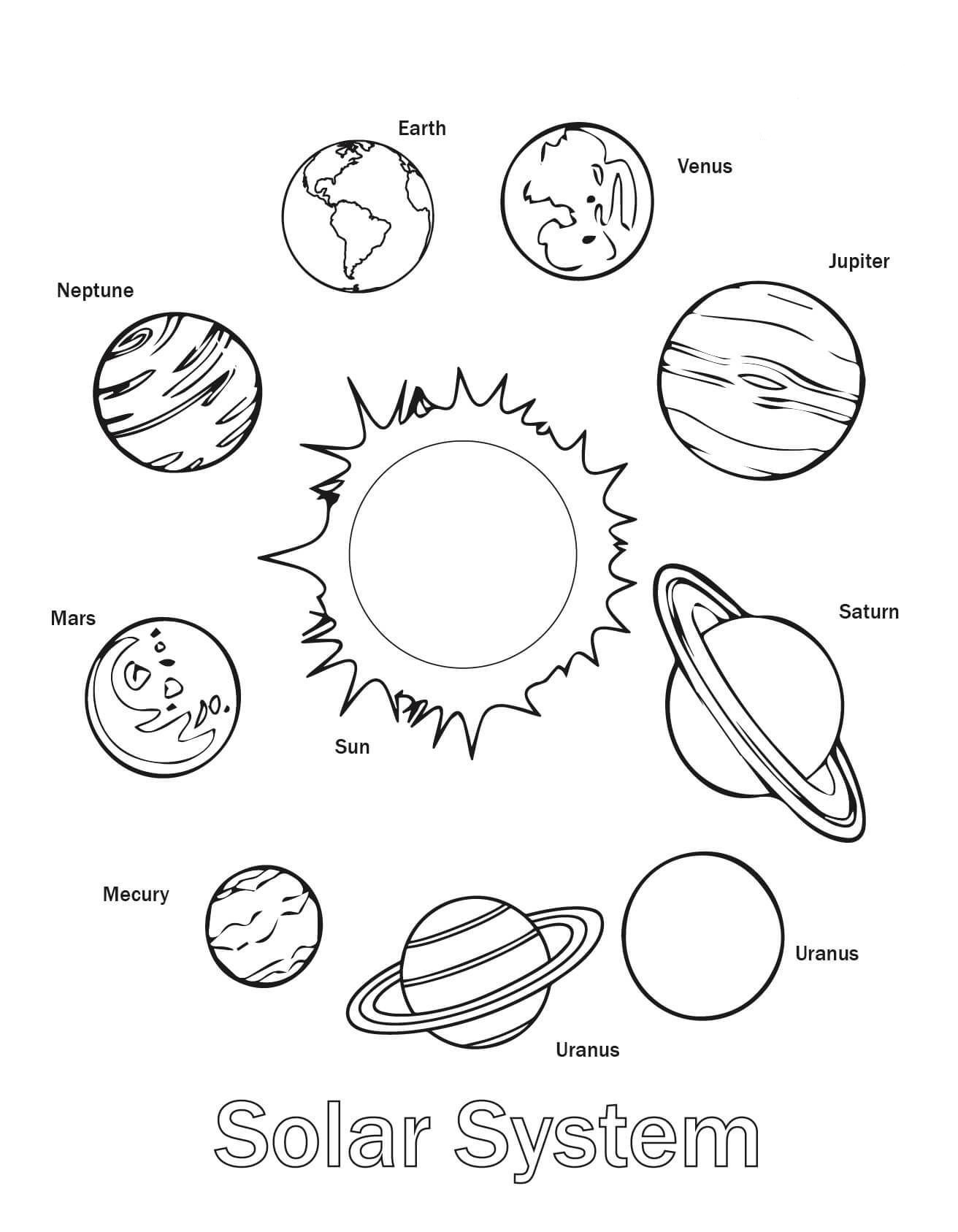 Free Printable Solar System Coloring Pages For Kids - Free Printable Solar System Worksheets