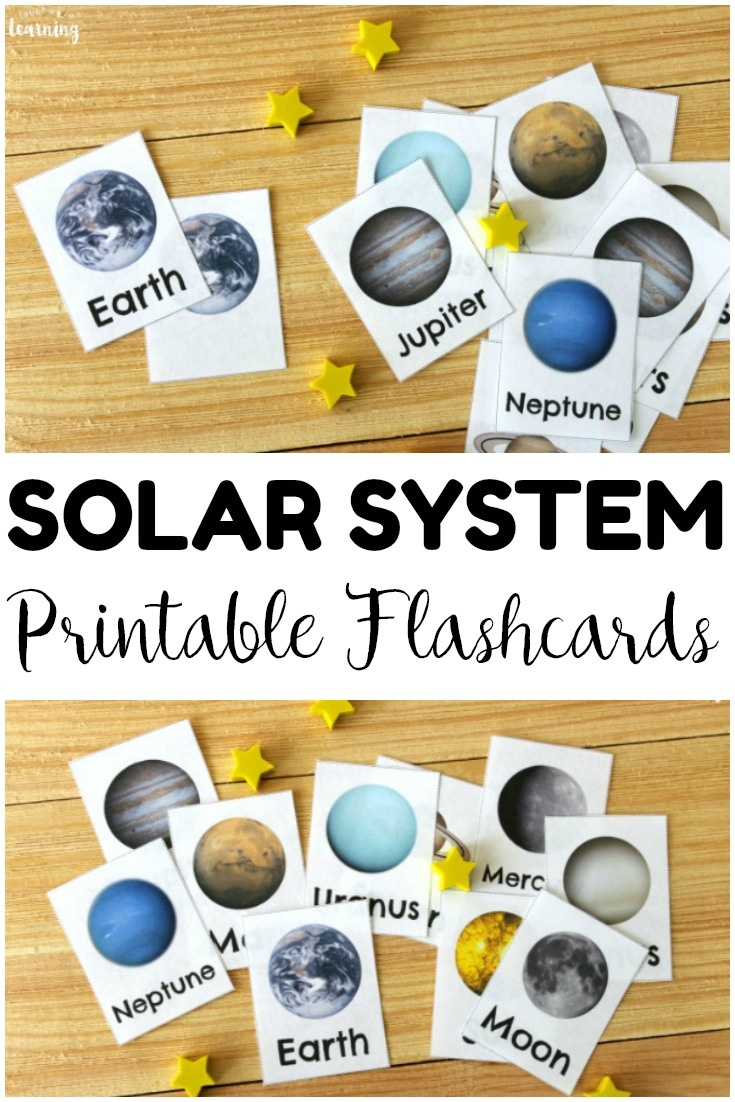 Free Printable Solar System Flashcards - Look! We're Learning! - Free Printable Solar System Flashcards