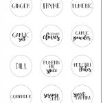 Free Printable Spice Jar Labels | Spices | Spice Jar Labels, Spice   Free Printable Spice Labels