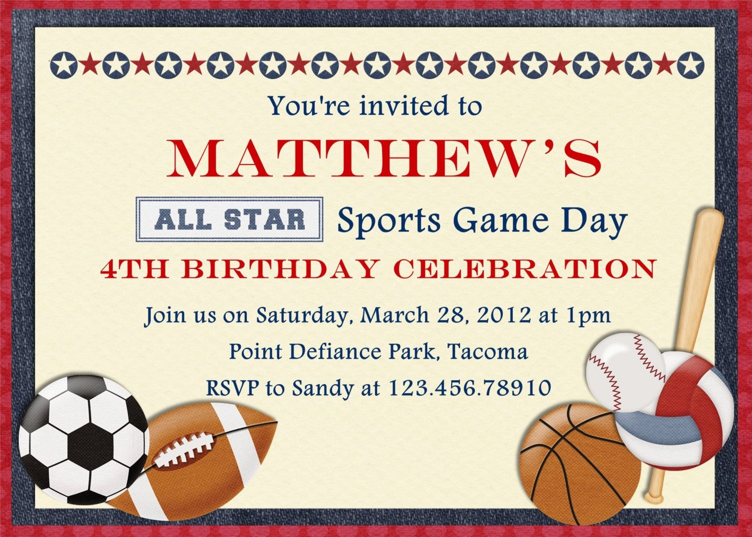 Free Printable Sports Birthday | Showers And Parties | Sports - Free Printable Sports Birthday Invitation Templates
