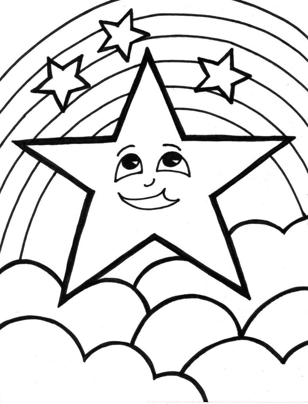 Free Printable Star Coloring Pages For Kids | Birthday Party Ideas - Free Printable Christmas Star Coloring Pages