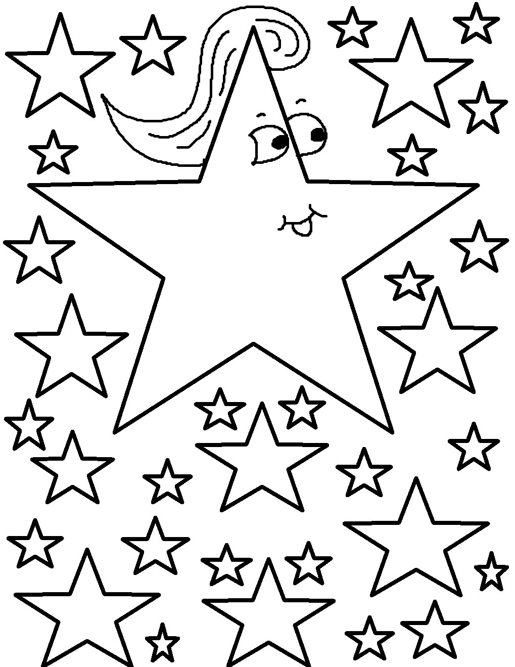 Free Printable Star Coloring Pages For Kids - Free Printable Christmas Star Coloring Pages