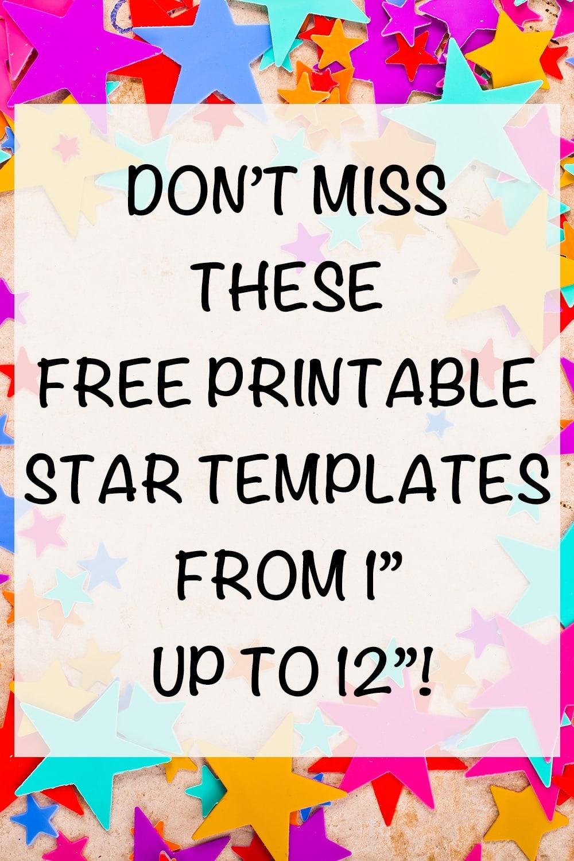 Free Printable Star Templates - The Artisan Life - Free Printable Stars