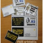 Free Printable Star Wars Lunchbox Notes. Perfect For Your Little   May The Force Be With You Free Printable