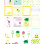 Free Printable Summer Planner Stickers   Ausdruckbare Etiketten   Free Printable Summer Pictures