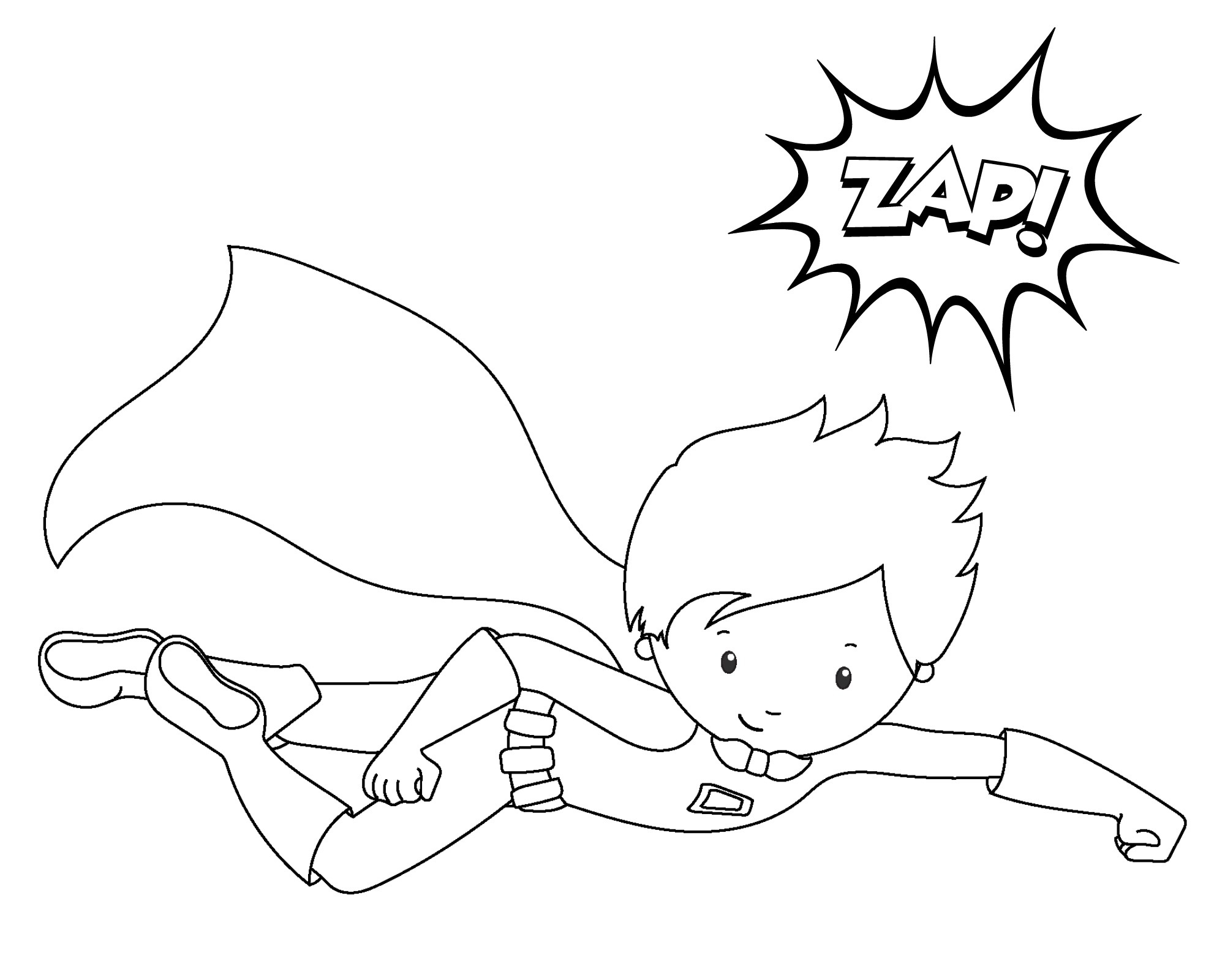 Free Printable Superhero Coloring Sheets For Kids - Crazy Little - Free Printable Superhero Coloring Pages