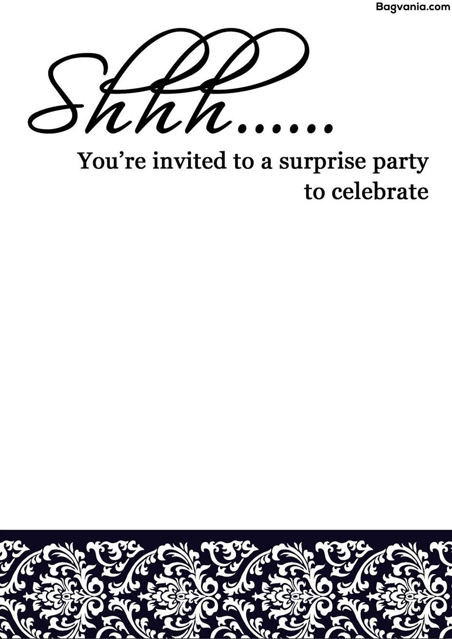 Free Printable Surprise Birthday Invitations – Bagvania Free - Free Printable Surprise Party Invitations