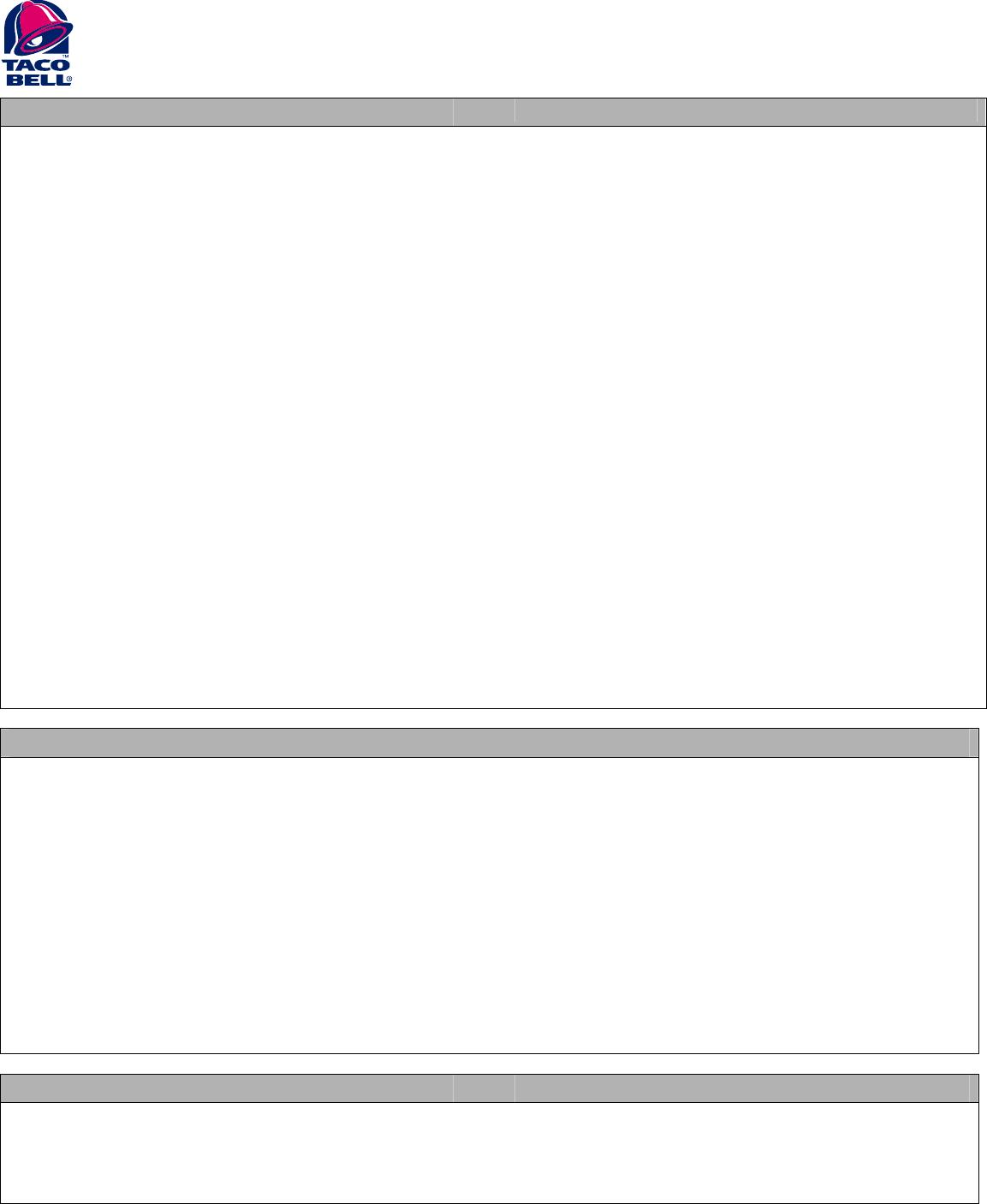 Free Printable Taco Bell Job Application Form - Free Printable Taco Bell Application
