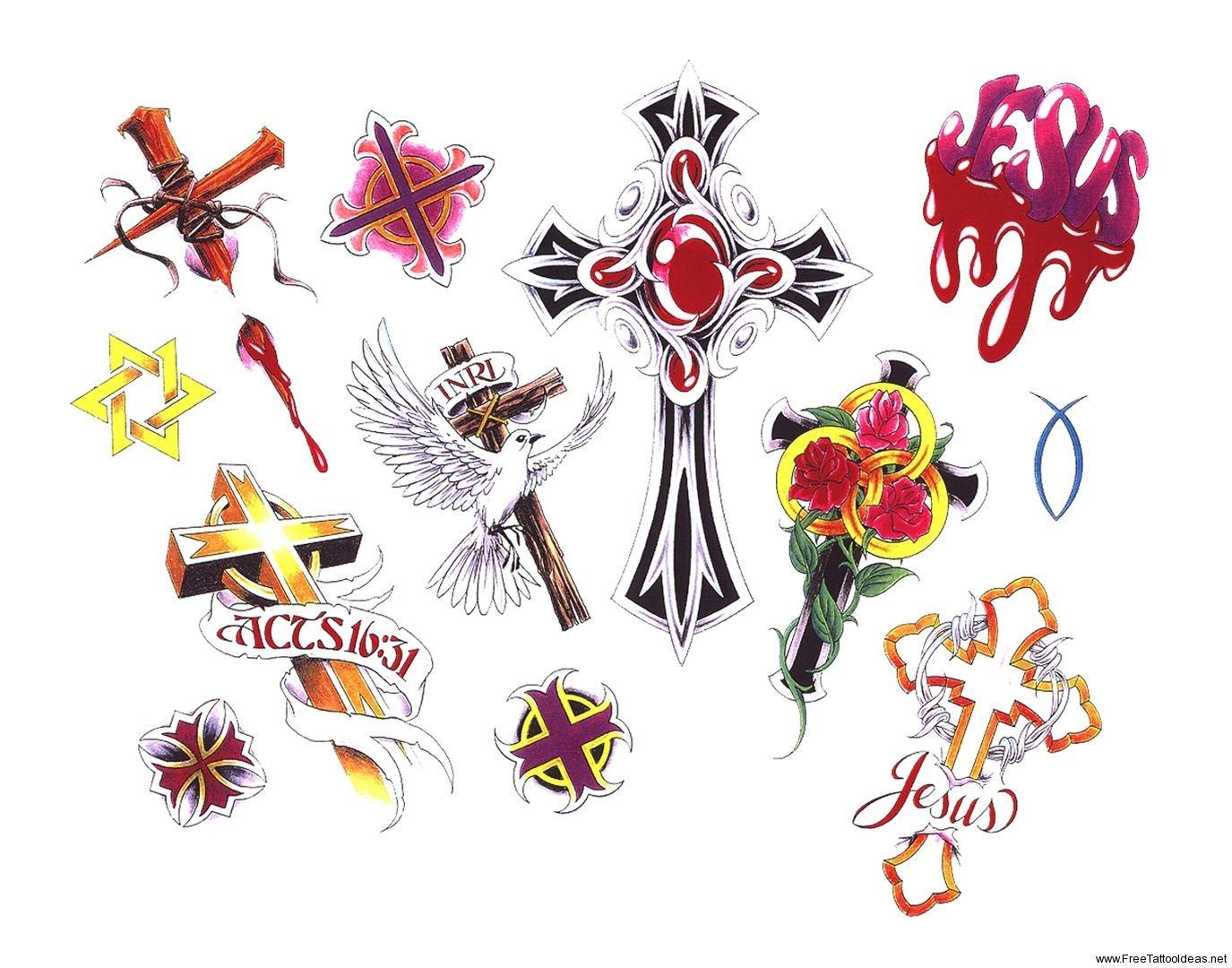 Free Printable Tattoo Flash | Cross Tattoos Designs - Free Cross - Free Printable Flash Tattoo
