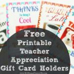 Free Printable Teacher Appreciation Gift Card Holders   Free Teacher Appreciation Week Printable Cards