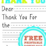 Free Printable Thank You Card | Kids Thank You Note Templates   Thank You Card Free Printable Template