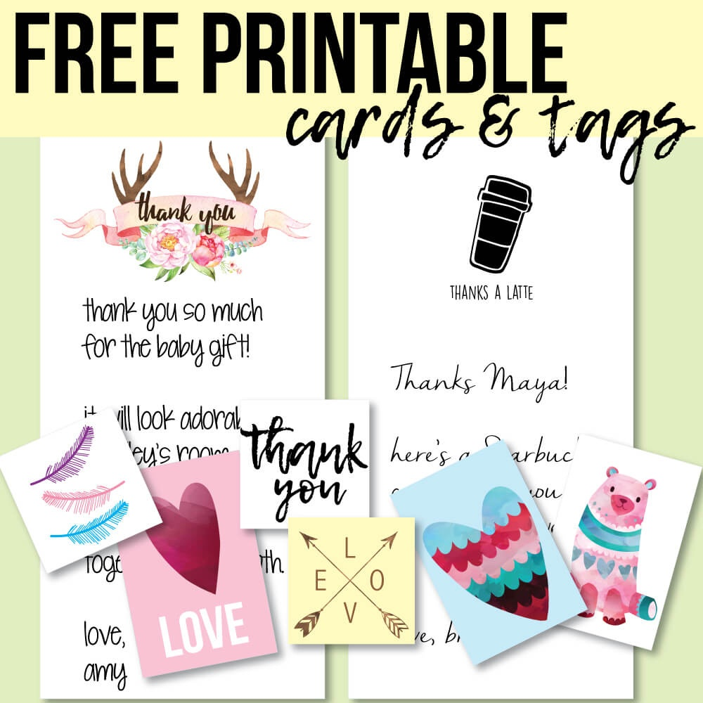Free Printable Thank You Cards And Tags For Favors And Gifts! - Free Personalized Thank You Cards Printable