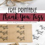 Free Printable Thank You Tags — Meghan Makes Do   Free Printable Thank You