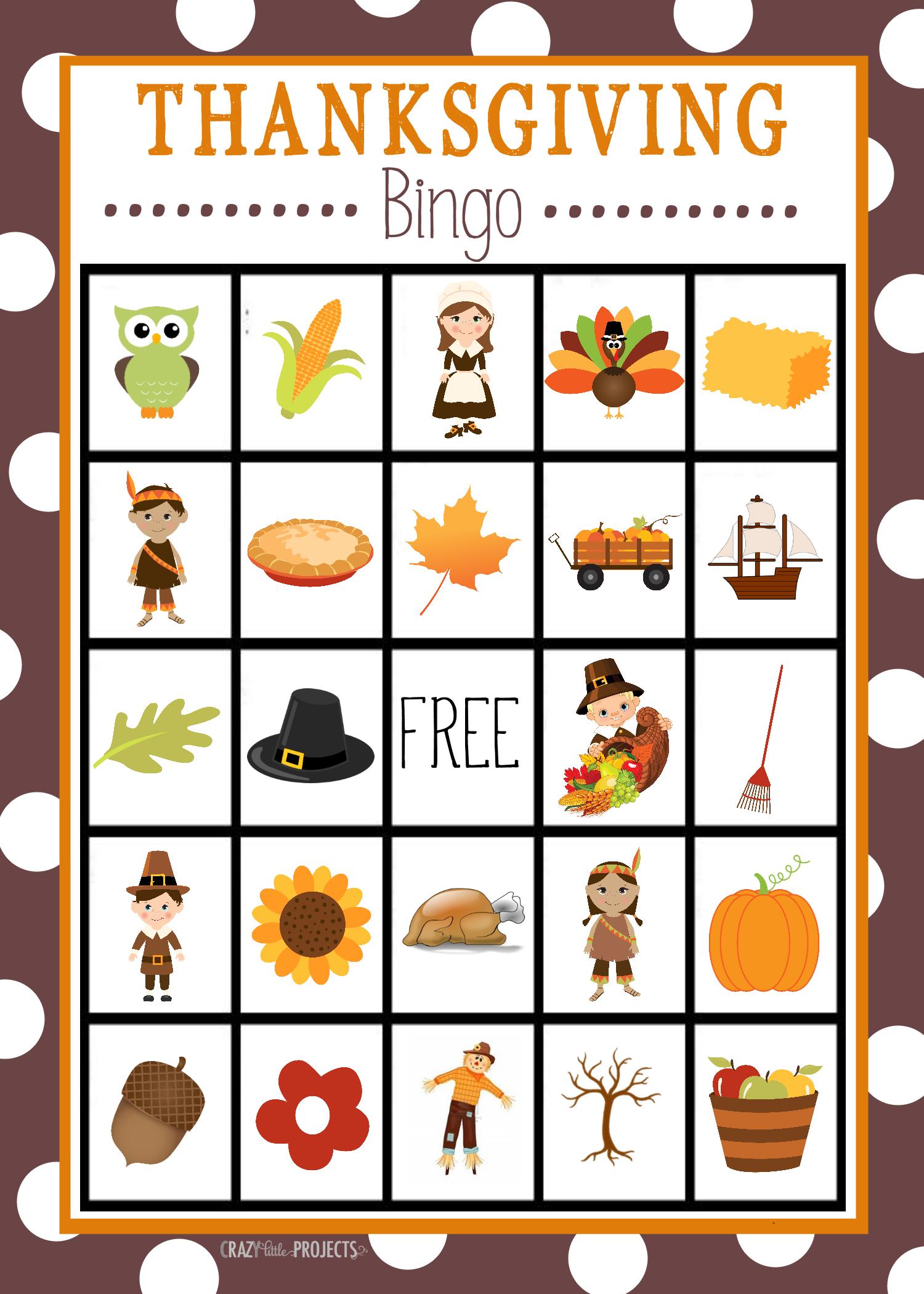 Free Printable Thanksgiving Bingo Game | Craft Time | Thanksgiving - Free Printable Thanksgiving Games For Adults
