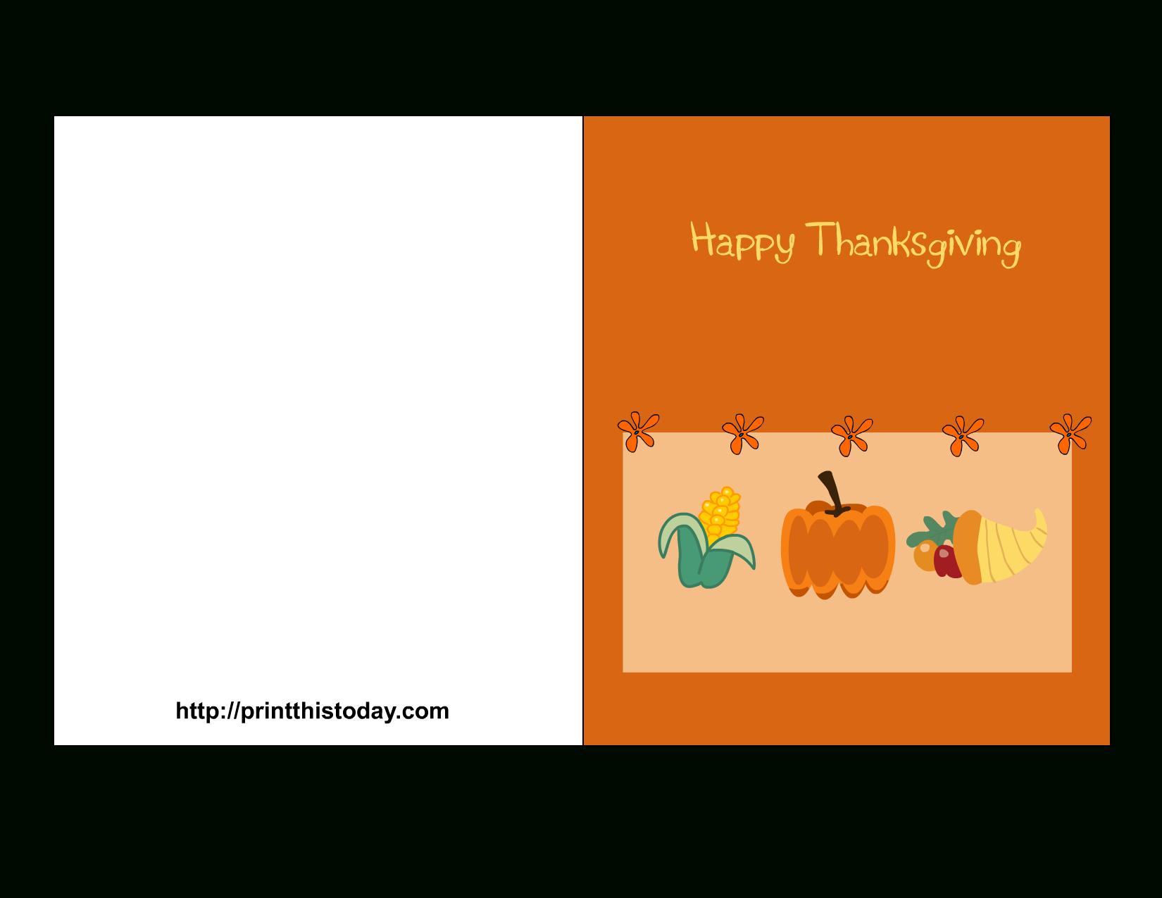 Free Printable Thanksgiving Cards - Free Printable Thanksgiving Cards