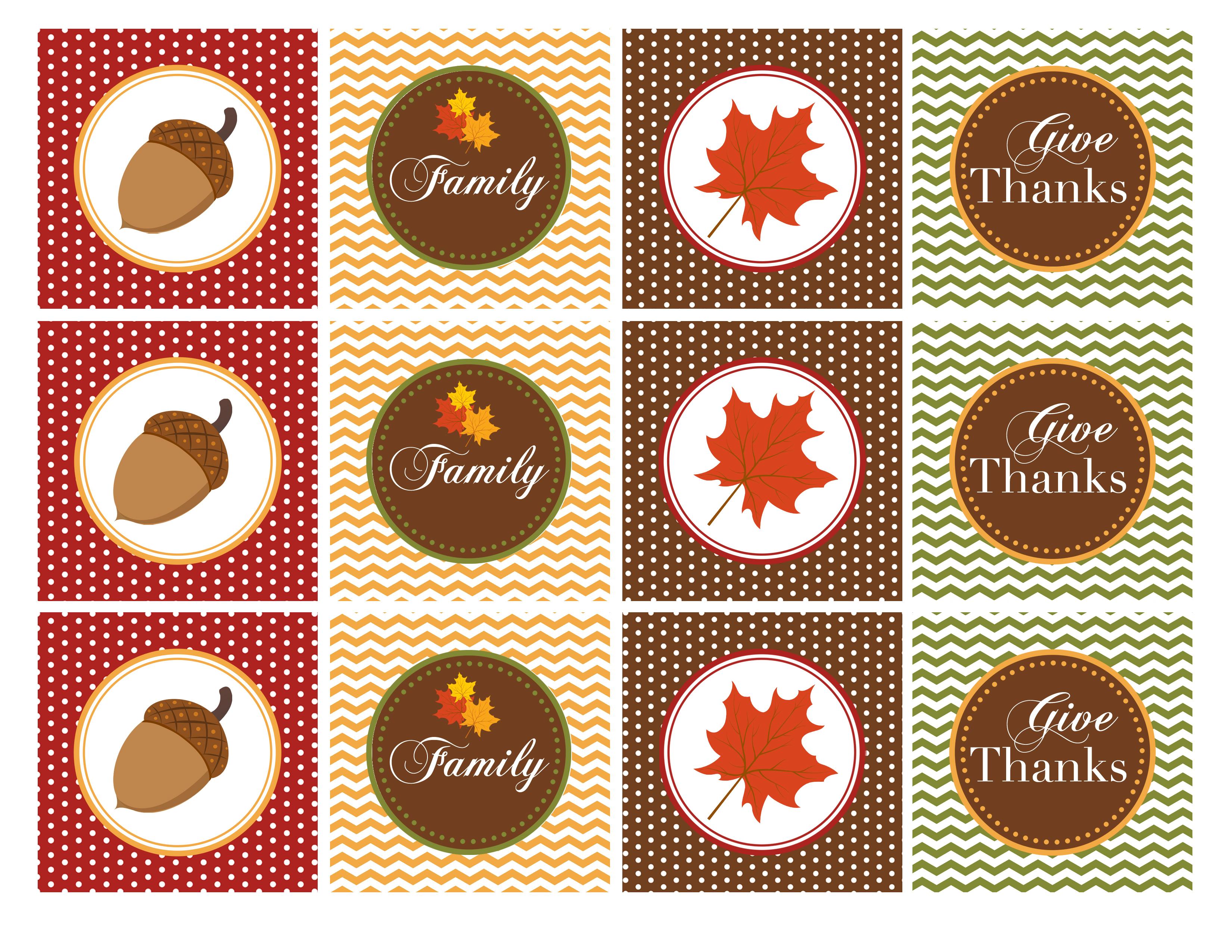 Free Printable Thanksgiving Cupcake Toppers – Happy Easter - Thanksgiving Cupcake Toppers Printable Free