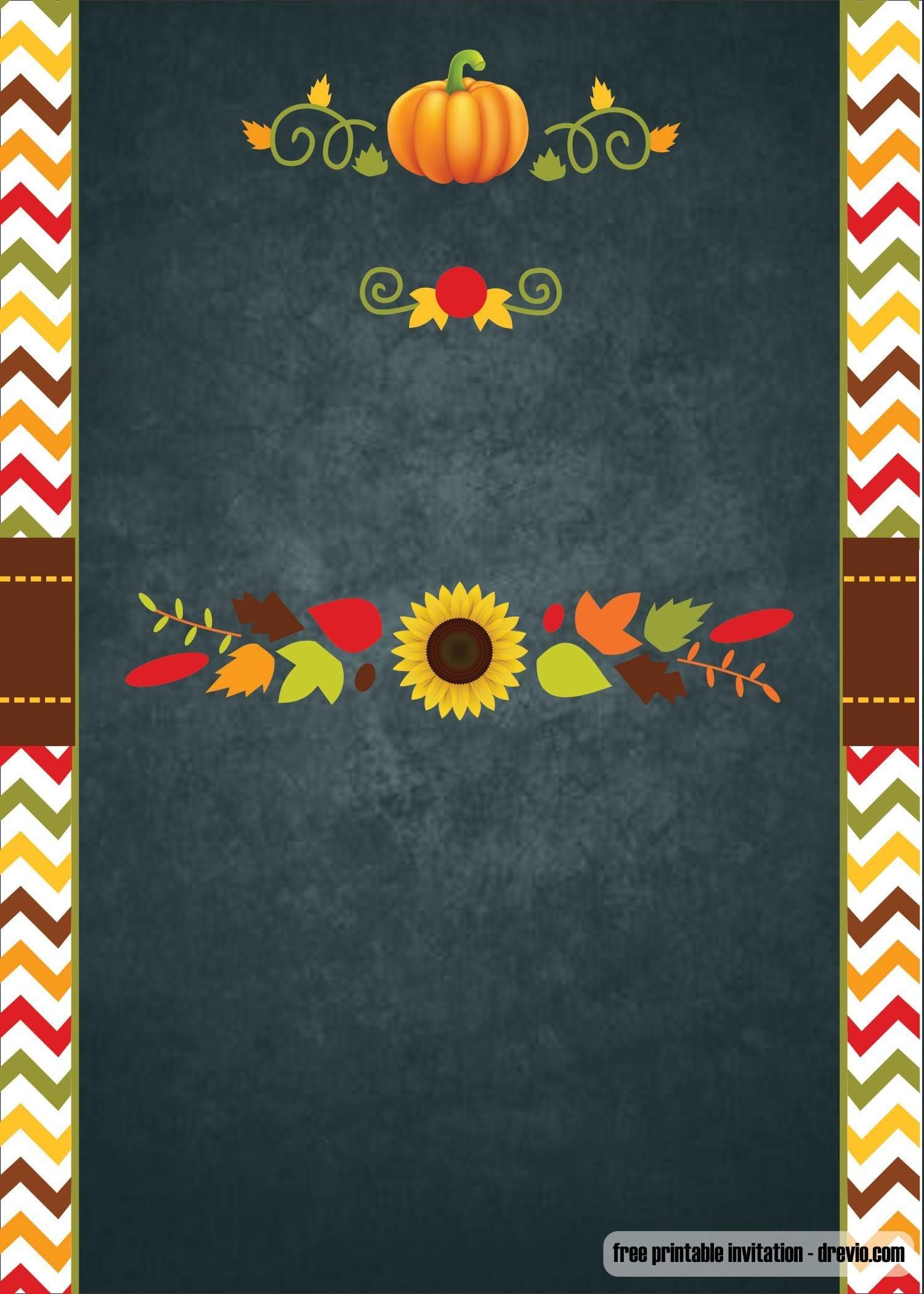 Free Printable Thanksgiving Invitation | Free Printable Birthday - Free Printable Thanksgiving Invitation Templates