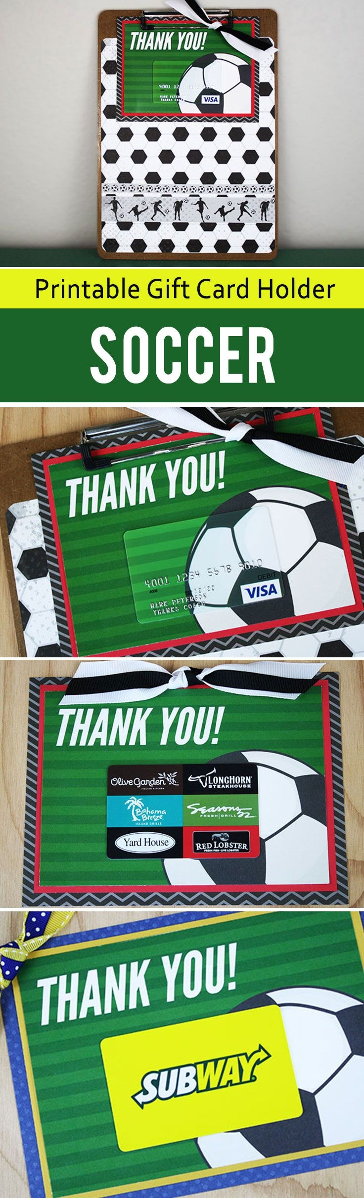 Free Printable} This Soccer Gift For Coach Is A Kick! | Thank You - Free Printable Soccer Thank You Cards
