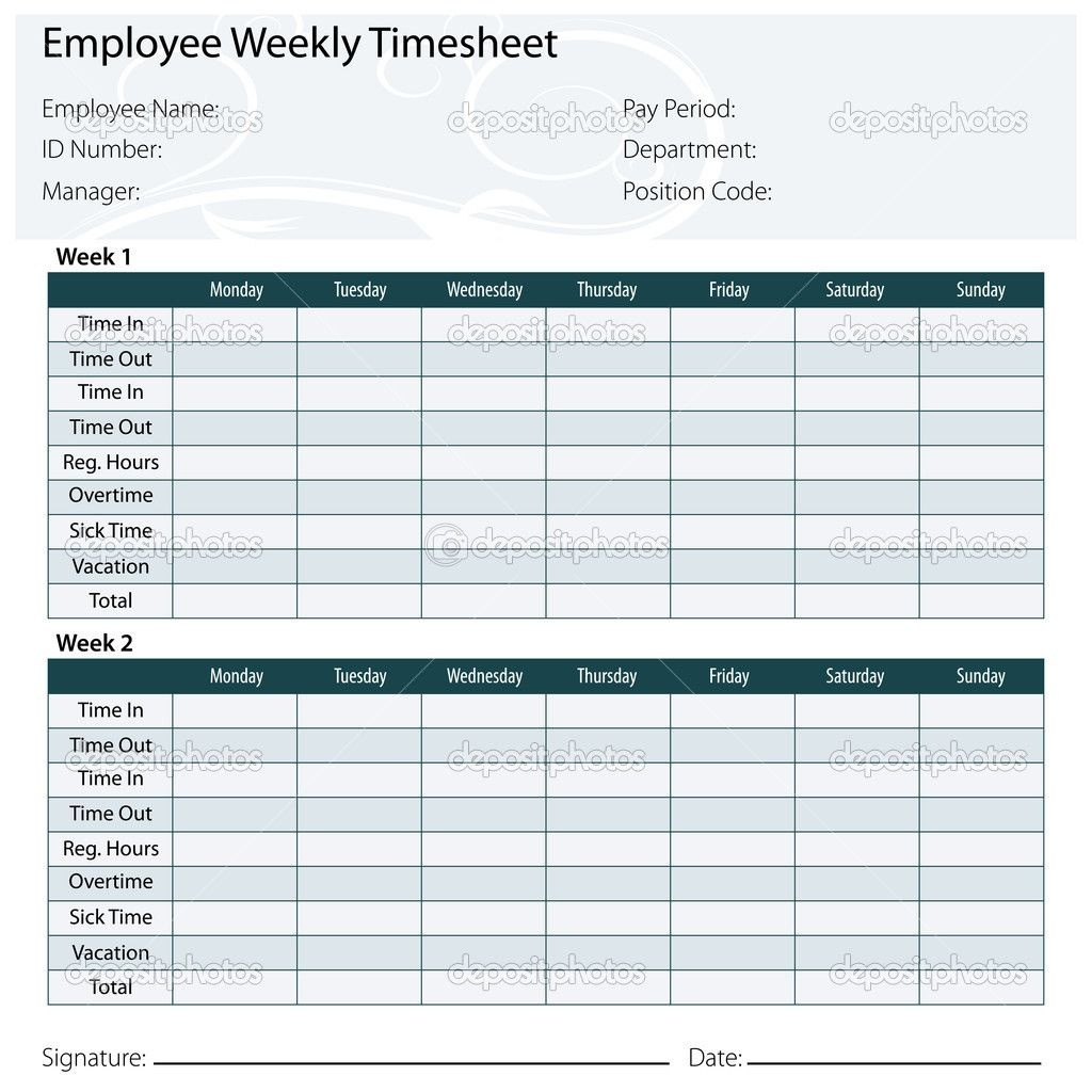 Free Printable Timesheet Templates | Timesheet Template Free Excel - Free Printable Blank Time Sheets