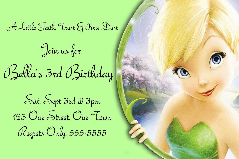 Free Printable Tinkerbell Birthday Party Invitations - Tutlin.psstech.co - Free Tinkerbell Printable Birthday Invitations